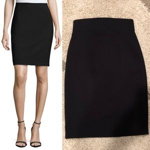 Elie Tahari Silky Pencil Skirt in Black